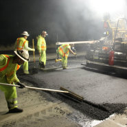 Thumbnail navigation item to preview Highway 152 night paving with new leadership image