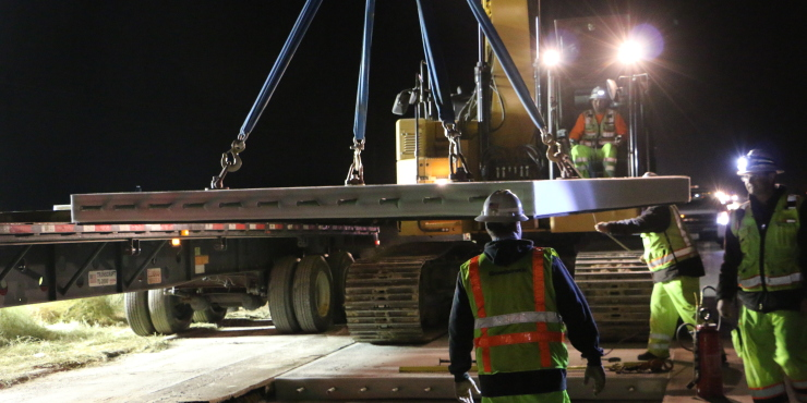 Highway 101 paving job calls for precast concrete panels