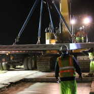 Thumbnail navigation item to preview Highway 101 paving job calls for precast concrete panels image