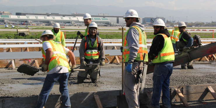Construction Division works on new terminal at San Jose Airport