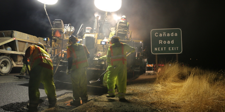 Paving Interstate 280: A true test of team work, communication and grit