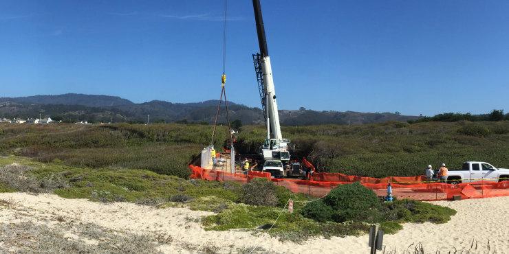 Replacing an aging bridge in Half Moon Bay