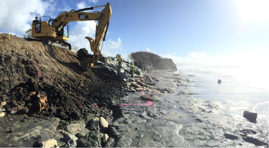 Half Moon Bay bluff gets lift from Graniterock