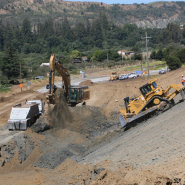 Thumbnail navigation item to preview Highway 129 safety project under way with Construction team image