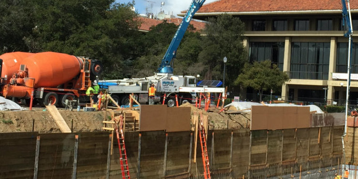 New building at Stanford University