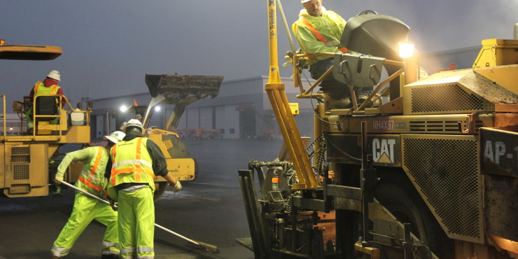 Strong productions at San Jose Airport paving job