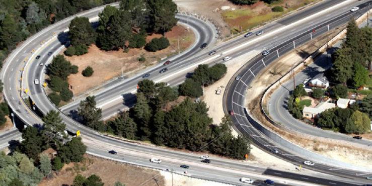 Highway 1/17 Merge Lanes