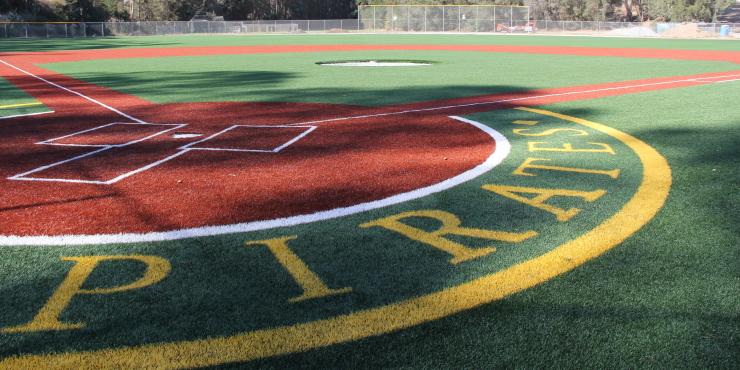Permeable base rock for Harbor High School baseball field