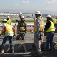 Thumbnail navigation item to preview Construction Division works on new terminal at San Jose Airport image