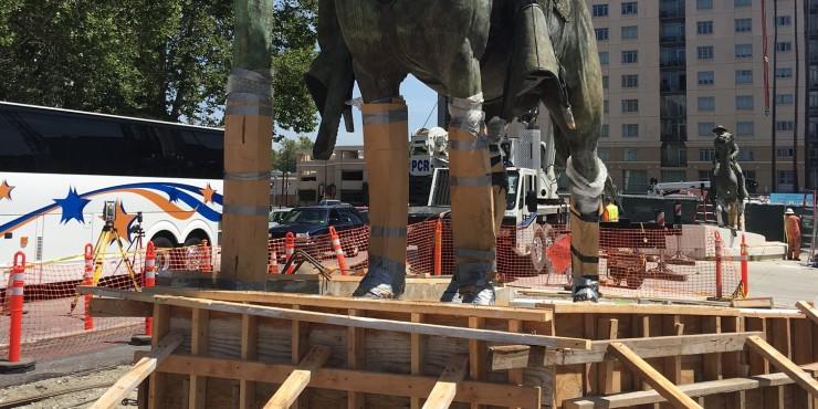 Downtown San Jose statue move