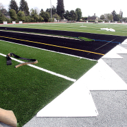 Thumbnail navigation item to preview Construction team scores big at Santa Cruz High with GPS paver image