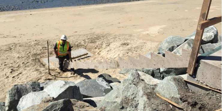 Half Moon Bay rock slope protection