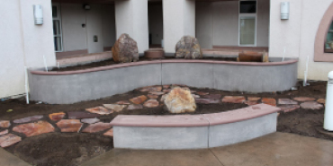 Link to read full article 'Memorial Garden Construction Update - Boulders Placed'