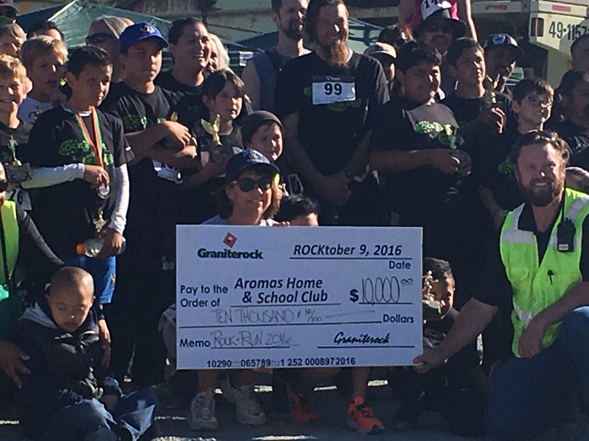$10,000 for Aromas School