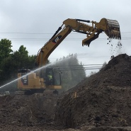 Thumbnail navigation item to preview Moving dirt for 500,000-gallon water tank at Pasatiempo Golf Club image