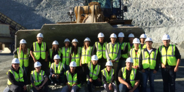 Link to read full article 'Construction Academy Students visit the A.R. Wilson Quarry'