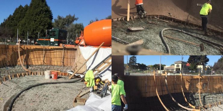 Concrete for new skate park in Watsonville
