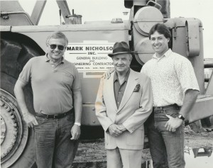 Larry, Mark and Kurt Nicholson in 1990