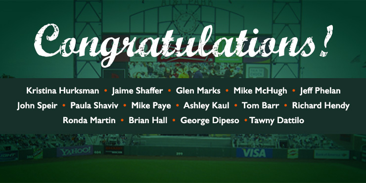 Winners of Graniterock's SF Giants giveaway