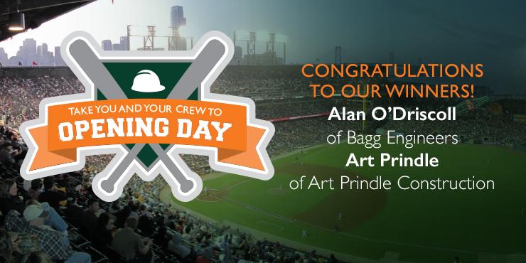 SF Giants opening day winners