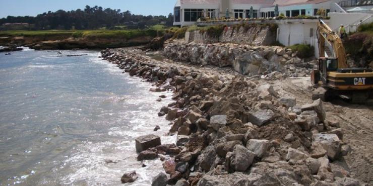 Pebble Beach Sea Wall